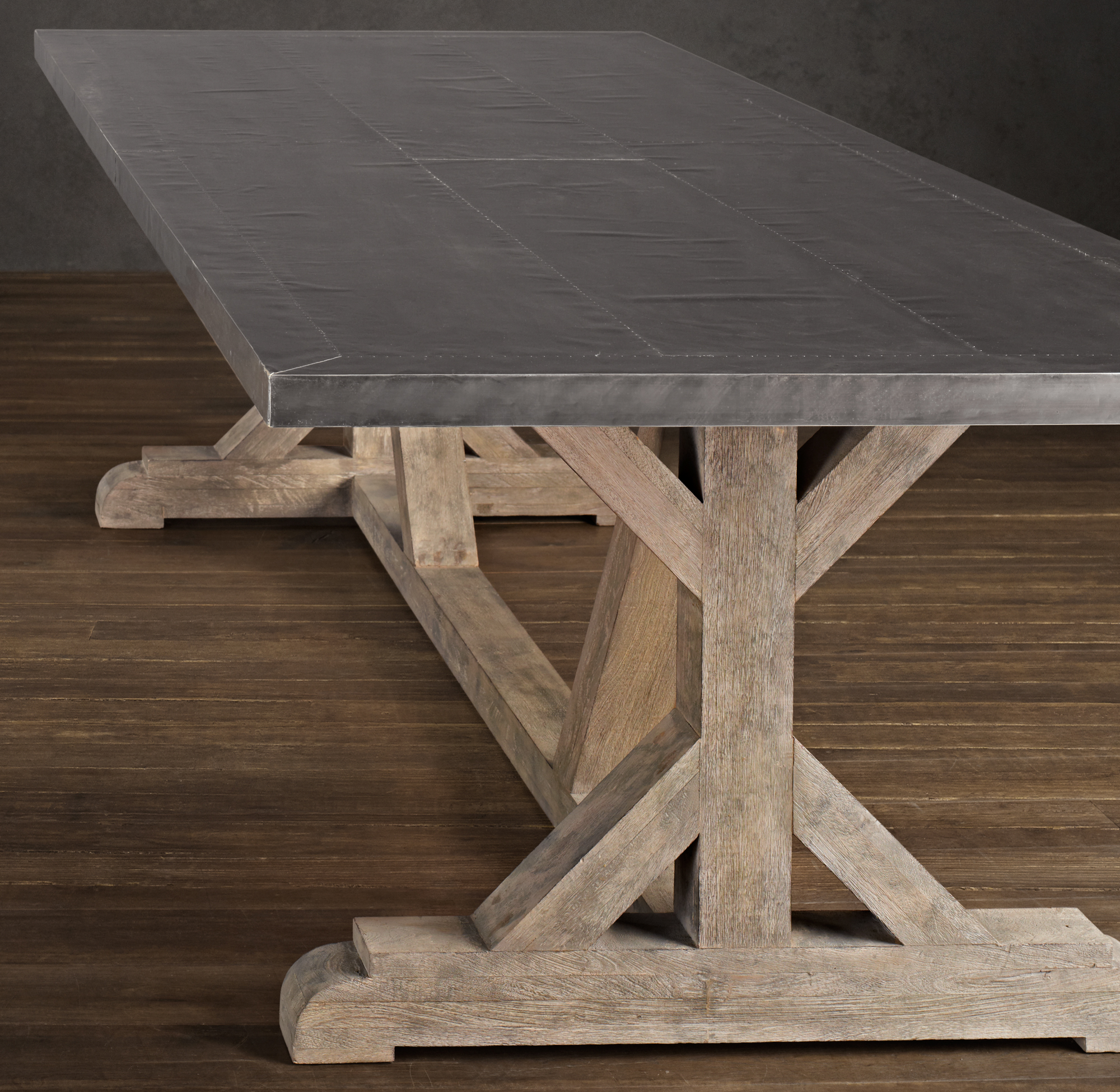 zinc top dining table large railroad tie dining table restoration hardware recalls metal top dining tables due to risk of