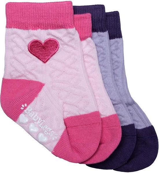 Baby Socks with Heart Appliqué