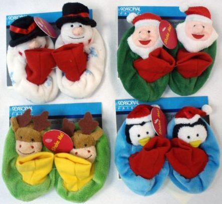 Holiday Rattle Baby Slippers