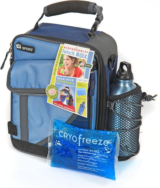 image of Expandable Insulated Lunch Box with Freezer Gel Pack