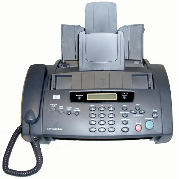 Recalled HP fax machine