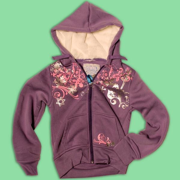 Girls' Hooded Sweatshirts with Drawstrings
