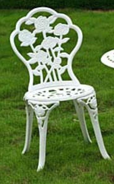 White Cast Iron And Aluminium Chair