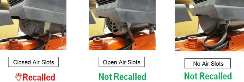 Check your motor end cap for an affected motor as shown below