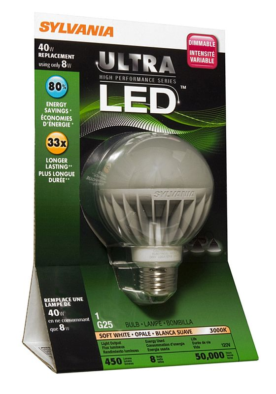 Model G25 LED Bulb Photo. Sylvania Packaging For G25 Good Looking