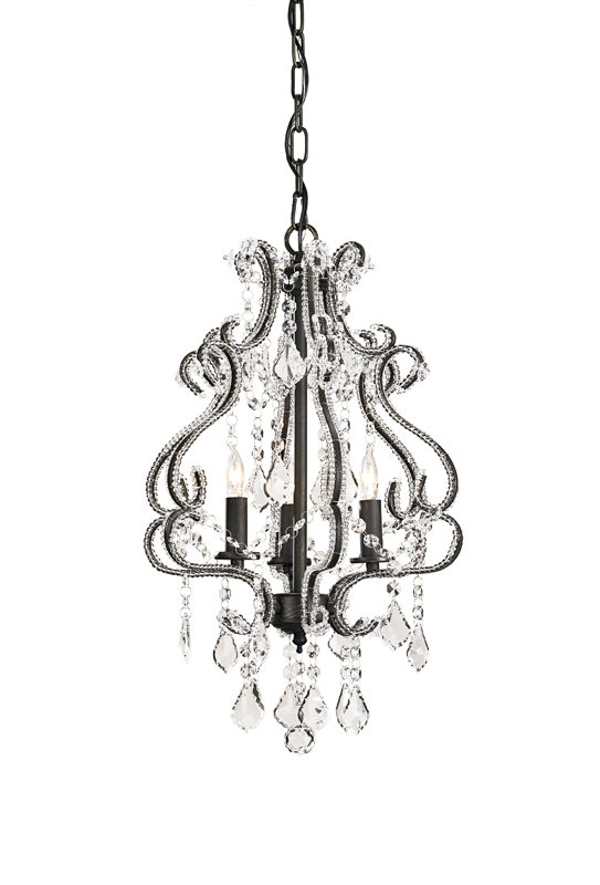 9061 Valentina chandelier, small, clear