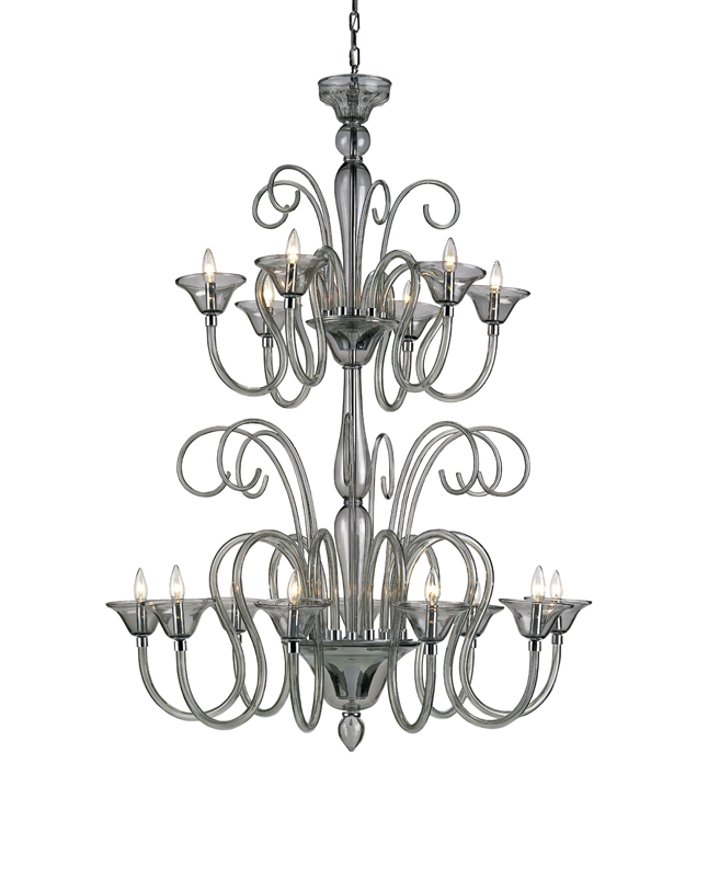 9151 Guilia chandelier, large, smoke