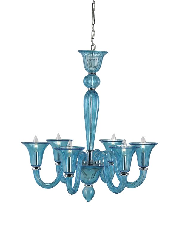 9154 Guistina chandelier, blue