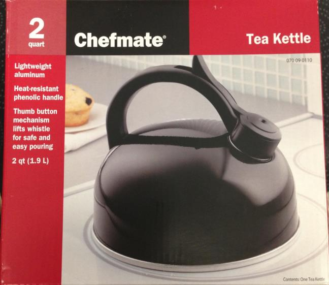 Chefmate 2-quart tea kettle packaging