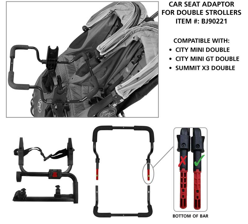Double Stroller And Adaptor BJ90221