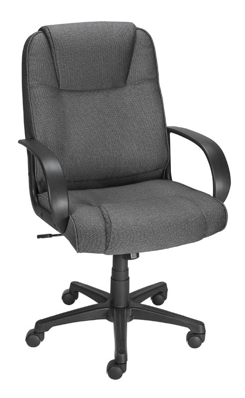 Bermond fabric chair in gray