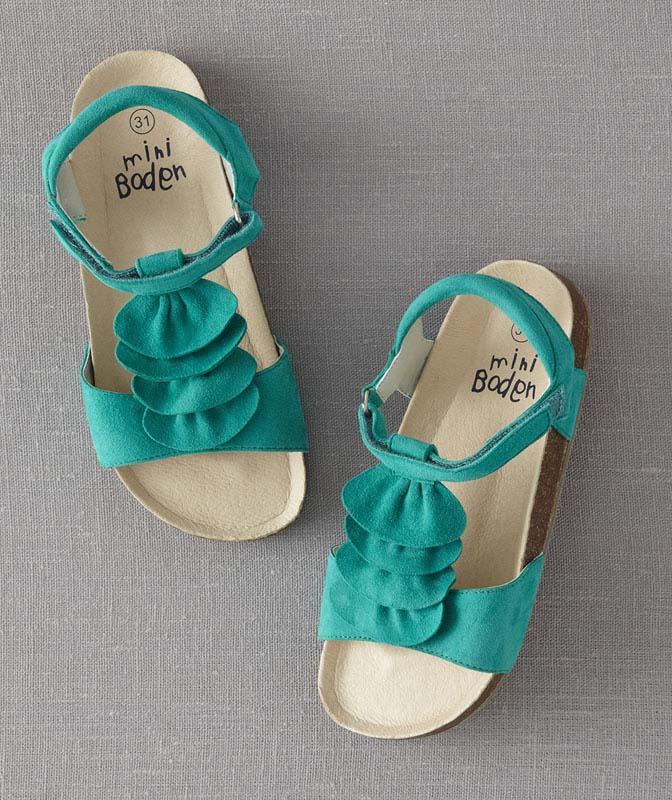 JP Boden green girls' sandals