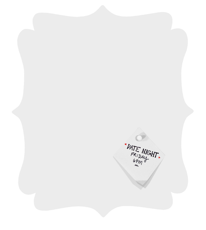 Quatrefoil Magnet Board front view