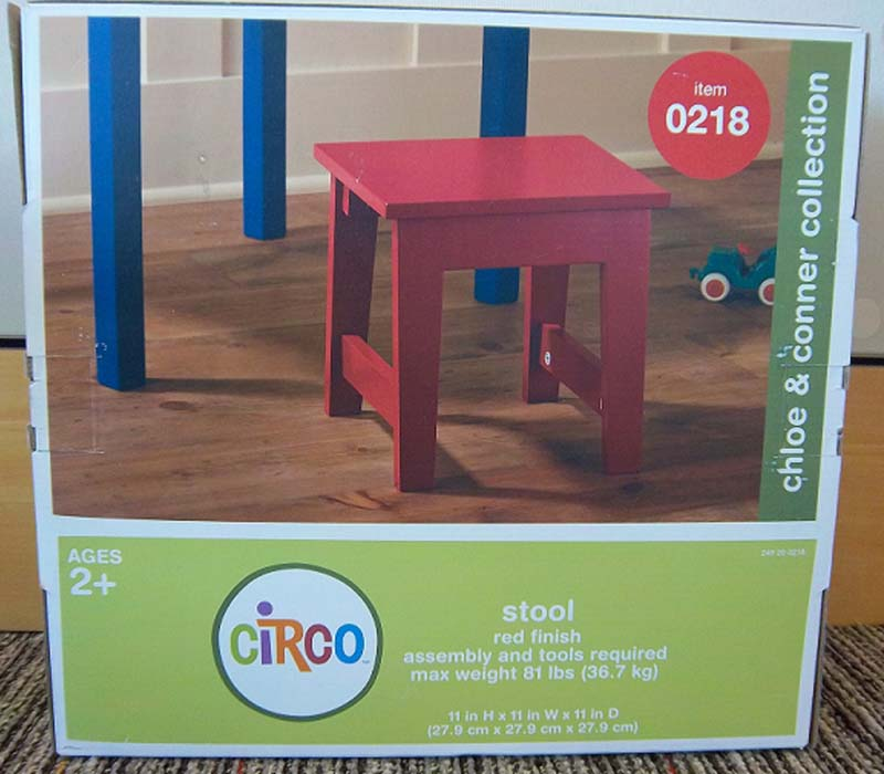 Circo Chloe & Conner Collection Stool Packaging