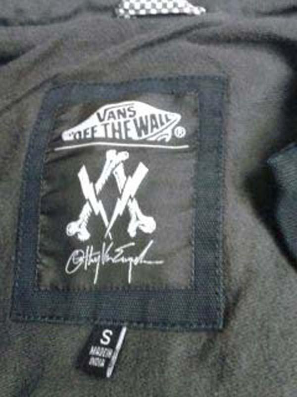 Jacket label