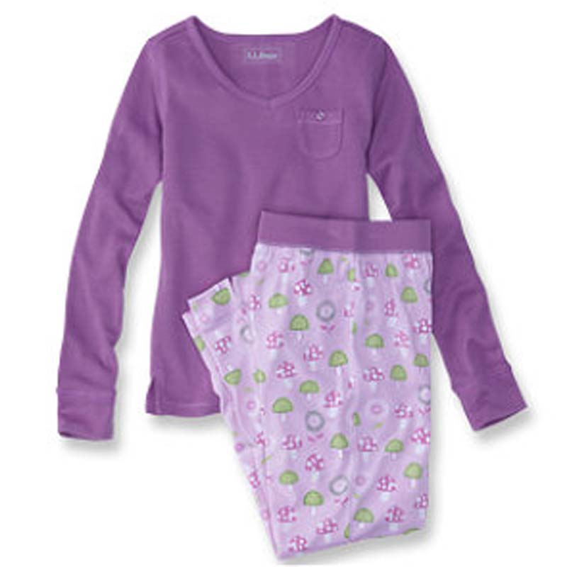 L.L. Bean girl's jersey knit aurora purple pajama sets