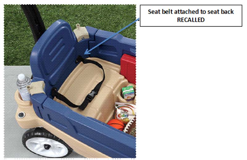 Step2® Whisper Ride Touring Wagon with seat belt attached to seat back