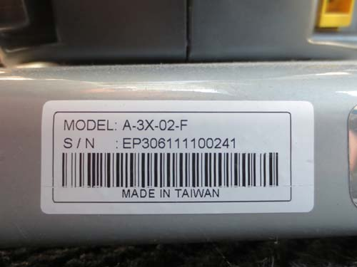 Model number location
