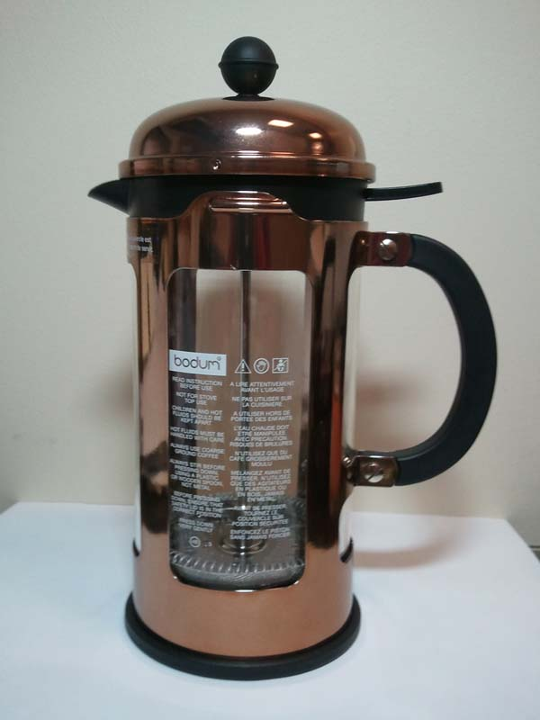 Bodum rose gold Chambord coffee press