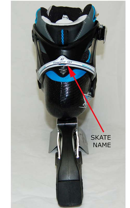 """Tempest"" name on the skate"