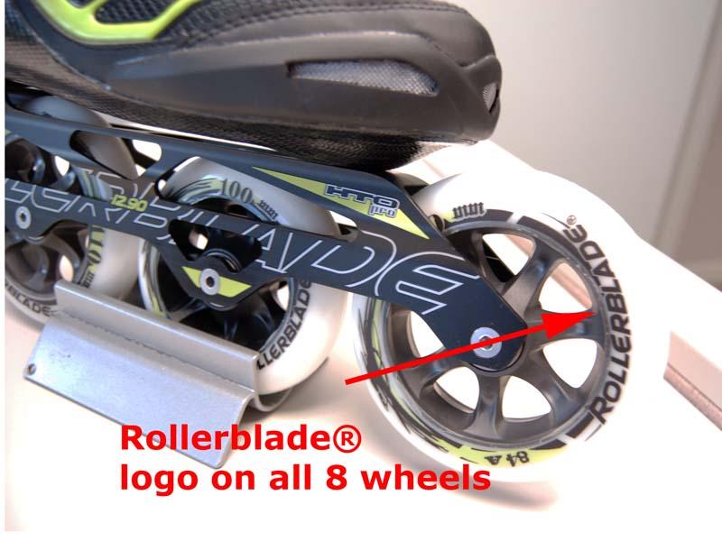 Rollerblade® logo on the skate