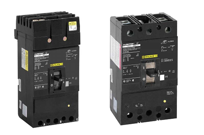 image of Square D branded, molded case F and K frame circuit breakers