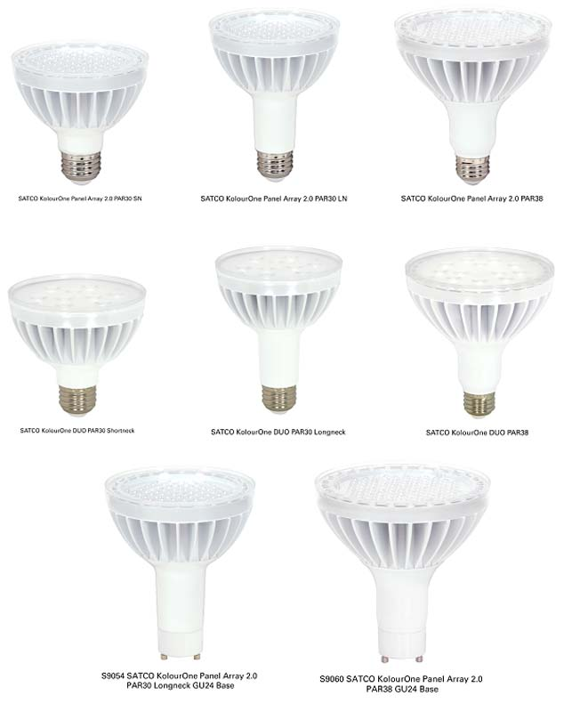 SATCO KolourOne Panel Array and DUOLED Light Bulbs