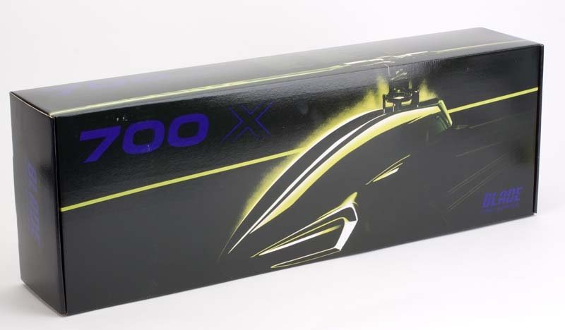 Blade 700 X Pro Series Kit and Pro Series Combo packaging