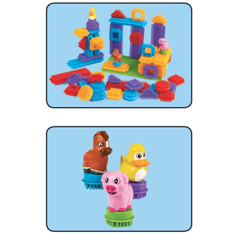 Bristle Builders for Toddlers Play Set with Animal Figures