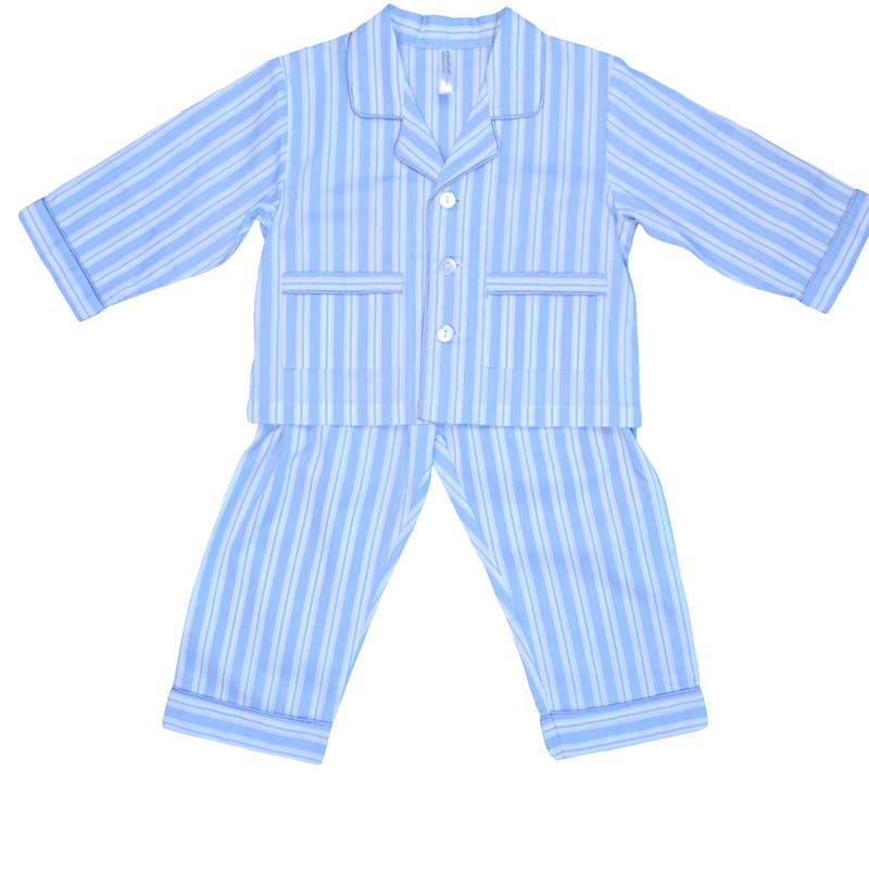 Empress Arts blue striped children's pajamas