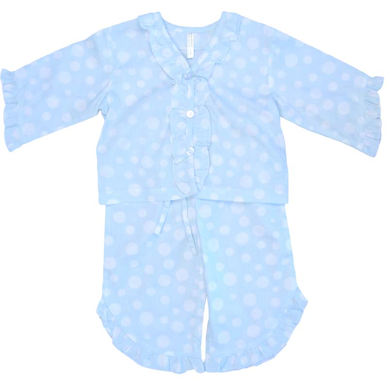 Empress Arts blue dot children's pajamas