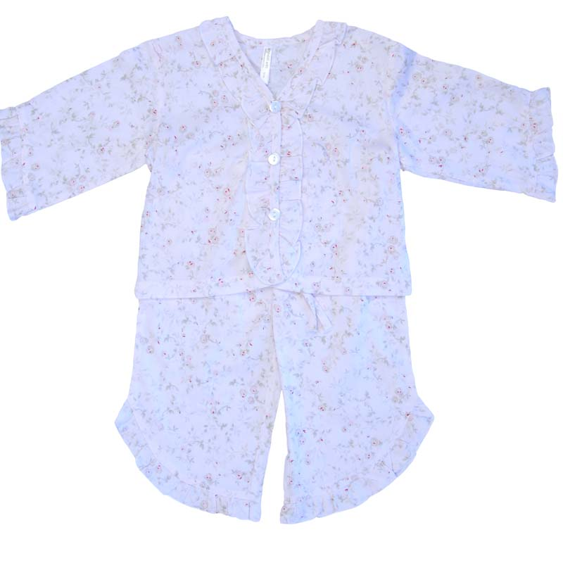 Empress Arts pink floral children's pajamas