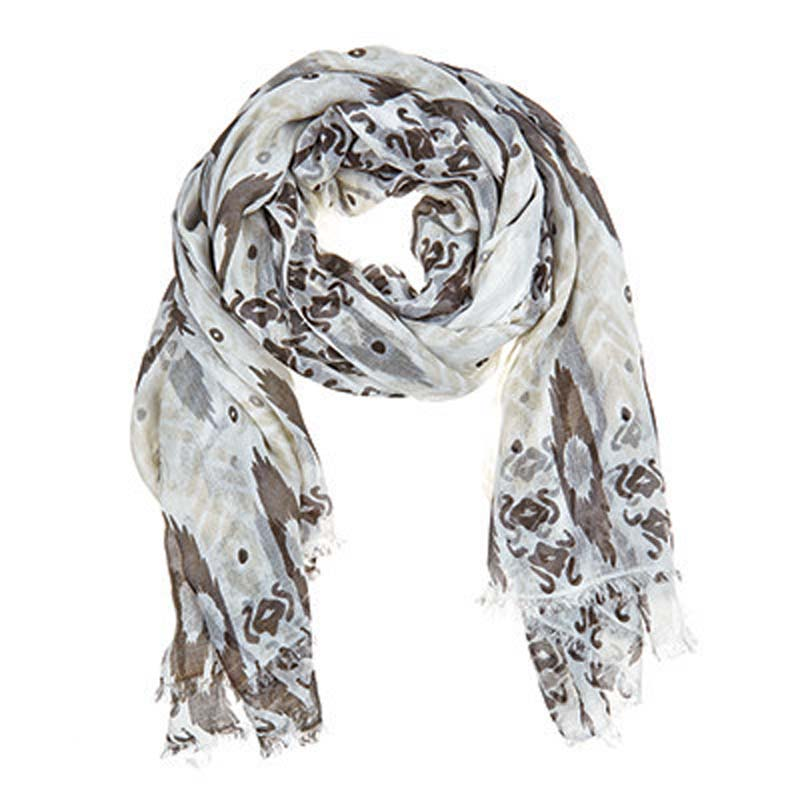 Julie Vos Sierra women's Sierra scarf – cream/gray