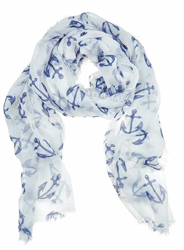 Julie Vos Sierra women's Anchor scarf -- blue