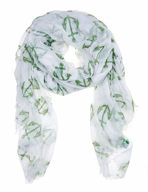 Julie Vos Sierra women's Anchor scarf -- green