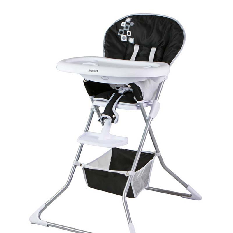 Dream On Me Dinah High Chair (black with white trim)