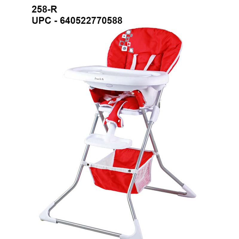 Dream On Me Dinah High Chair (red with white trim)