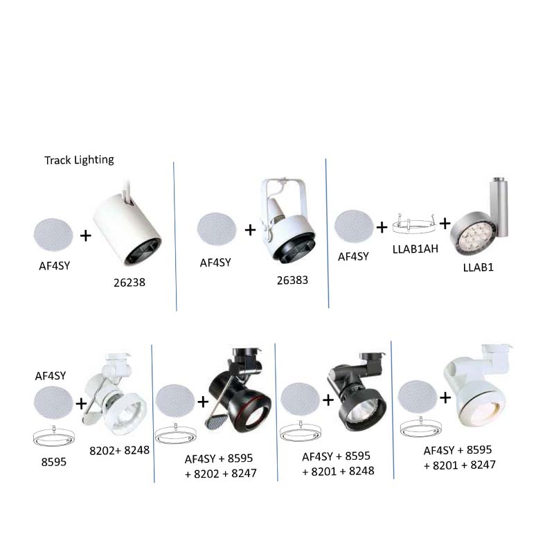 """Light fixtures compatible with Philips Lighting """"Lightolier"""" AF4SY Glass Lens"""