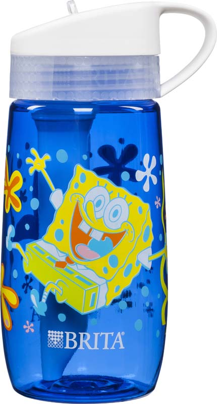 Botella de agua de SpongeBob Square Pants®, Bob Esponja (frente y parte trasera)