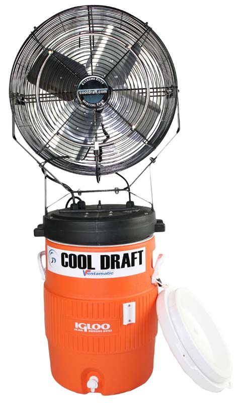 Cool Draft 15 gallon misting fan