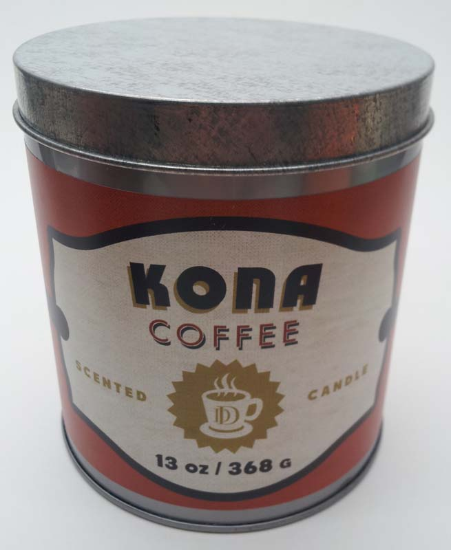 DD brand 13-ounce coffee tin candle