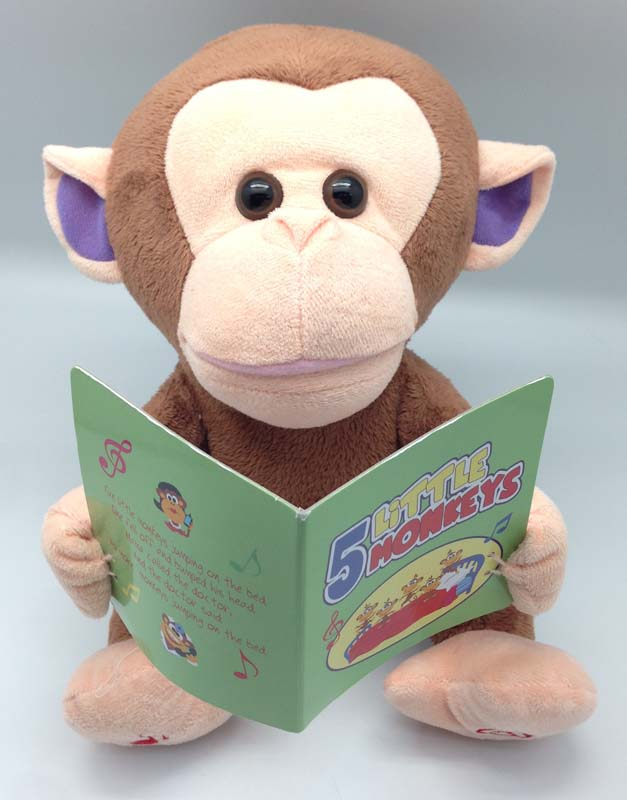 Giggles International Animated Sing-Along Monkey toy