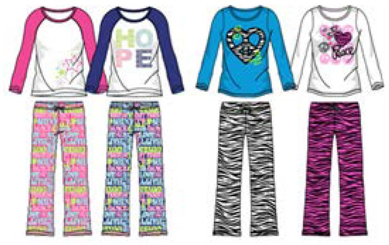 Star Ride Kids girl's pajama sets