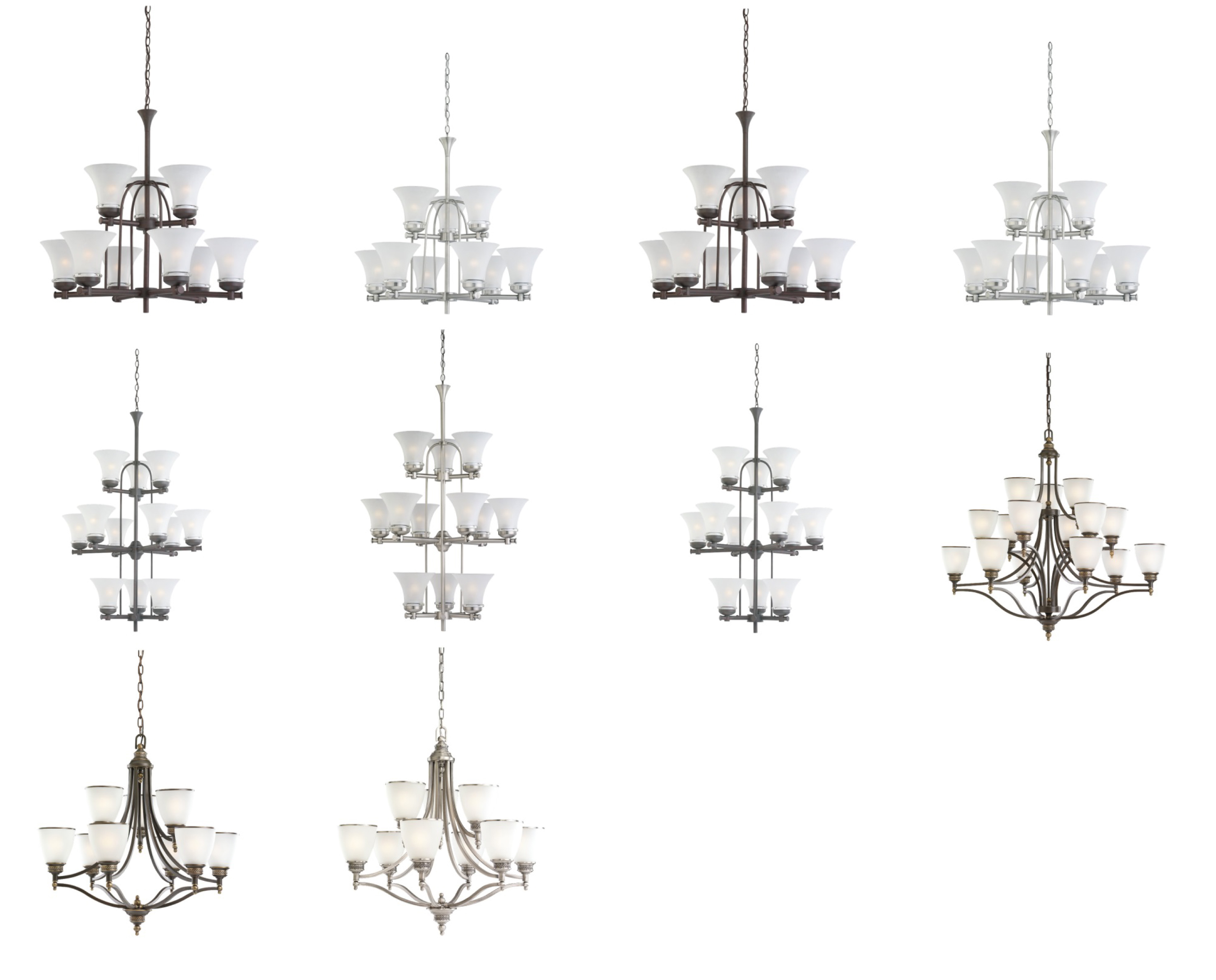 10 Versions of recalled Seagull Chandeliers. Please see chart in recall for full images of  sc 1 st  Consumer Product Safety Commission & Sea Gull Lighting Recalls Chandeliers | CPSC.gov azcodes.com