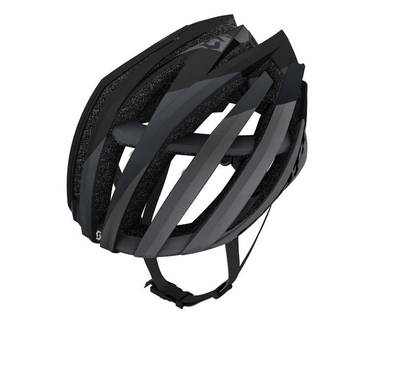Black and grey bicycle helmet