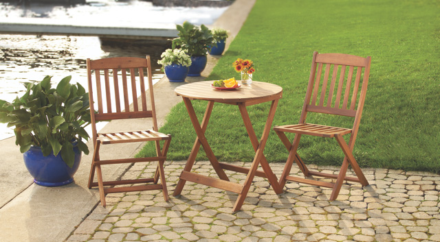 Linon Home Décor Foldable Patio Set