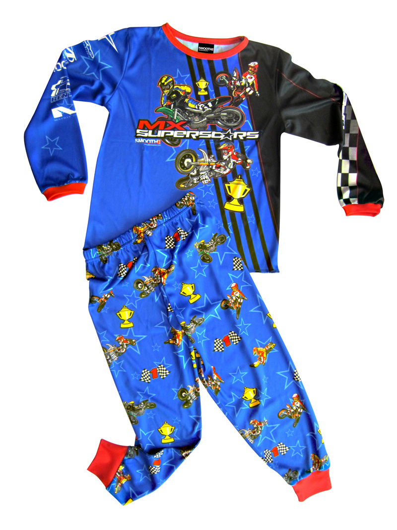"""MX Superstars"" themed children's pajamas"