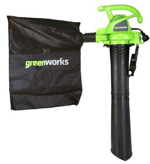 Recalled Greenworks blower/vac with mulch bag