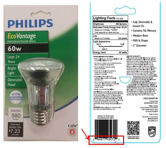 Philips EcoVantage Halogen Lamp Packaging (front and back)
