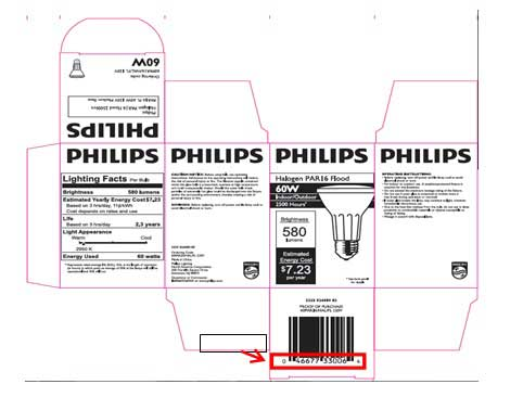 Philips Halogen Light bulb box packaging